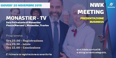 MEETING PRESENTAZIONE BUSINESS - NEWORKOM COMMUNITY  - MONASTIER (TV) biglietti