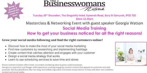 Business Womans Network - Masterclass and Networking Event