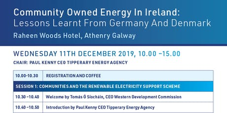 Community Owned Energy in Ireland: Lessons Learnt from Germany and Denmark tickets