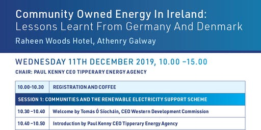 Community Owned Energy in Ireland: Lessons Learnt from Germany and Denmark