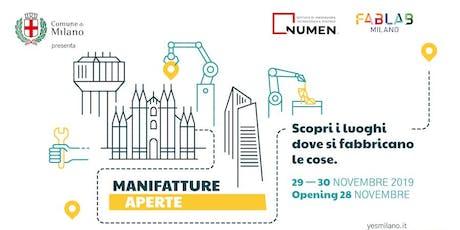 Manifatture Aperte-WORKSHOP E LABORATORI PER LA MODELLAZIONE E LA STAMPA 3D biglietti