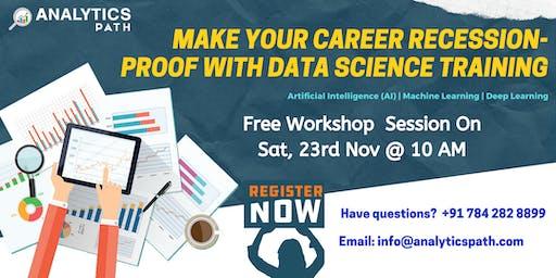 Enroll For Data Science Free Workshop On Saturday 23rd Nov @ 10 am