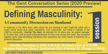 Defining Masculinity: A Community Discussion on Manhood tickets
