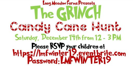 LMF RESIDENTS ONLY -The Grinch Candy Cane Hunt 2019