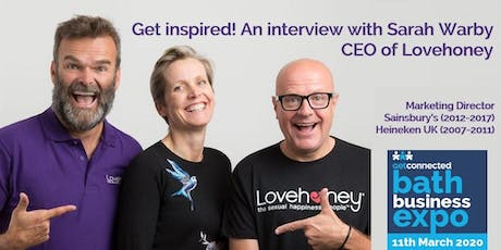 Get Inspired! An Interview with Sarah Warby, CEO of Lovehoney tickets