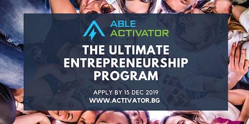 ABLE Activator: Как се става предприемач