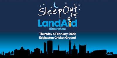 SleepOut for LandAid - Birmingham, Edgbaston Cricket Ground