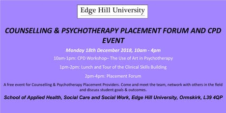 Counselling and Psychotherapy Placement Forum and CPD Event tickets