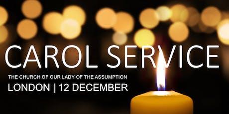 Catholic Christmas Carol Service in aid of Apostleship of the Sea tickets