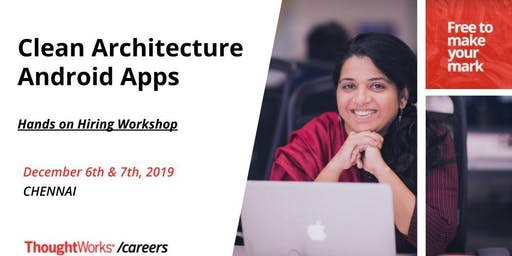 Clean Architecture Android Apps - Hands on hiring workshop