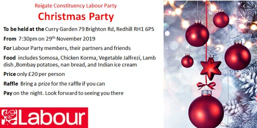 Reigate Labour Christmas Party