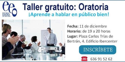 """Taller gratuito: """"Aprender a hablar en público bien""""."""