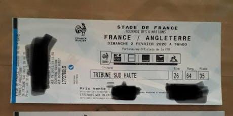 Tournoi 6 nations FRANCE- ANGLETERRE billets