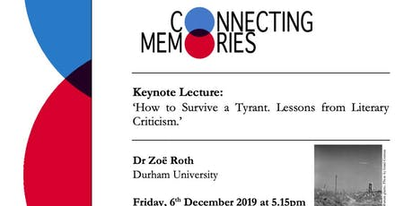 Dr Zoë Roth, 'How to Survive a Tyrant. Lessons from Literary Criticism.' tickets