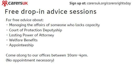 Carer's Rights Day - Free Advice on Court of Protection