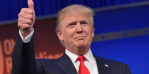 Let's re-elect Donald Trump! Party at my house!