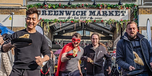 Pancake Race in Greenwich Market - Saturday 22nd February 2020