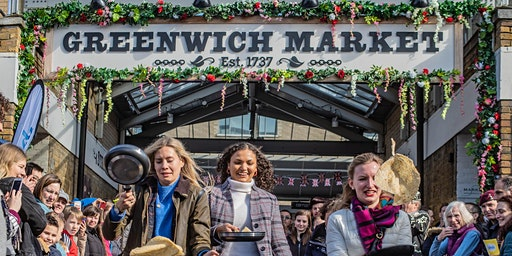 Pancake Race (Shrove Tuesday) in Greenwich Market - Tuesday 25th February 2020