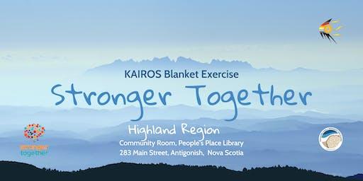 Stronger Together: KAIROS Blanket Exercise - Highland Region Recreation