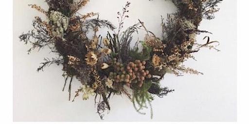 Festive Door and Everlasting Indoor Wreaths
