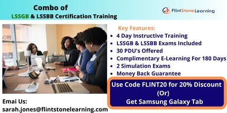 Combo of LSSGB & LSSBB Exam Prep Course in Blue Lake, CA tickets