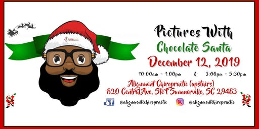 Pictures with Chocolate Santa