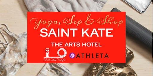 Yoga, Sip, and Shop at SAINT KATE!