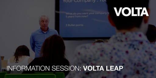 Volta LEAP - Leading Entrepreneurs to an Accelerator Path