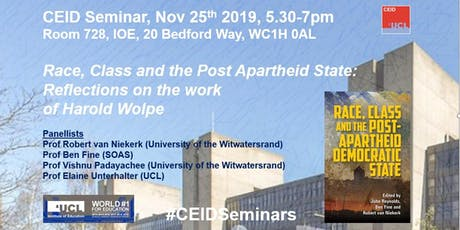 EVENT POSTPONED: Race, Class and the Post-Apartheid  democratic state tickets