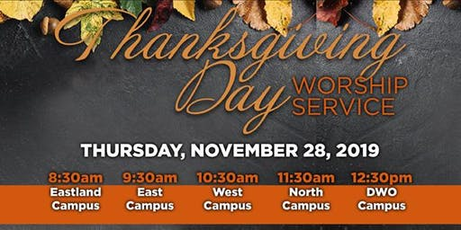 Triumph's Thanksgiving Day Services with William Murphy (Harper Woods)