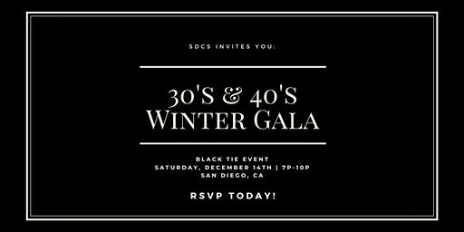 SDCS 30's & 40's Winter Cocktail Party!