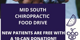 Donate 10 cans for a FREE Chiropractic New Patient Visit!
