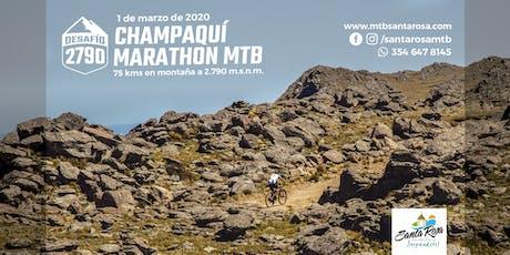 Desafío 2790 Champaquí Marathon MTB - 1 de marzo de 2020 entradas