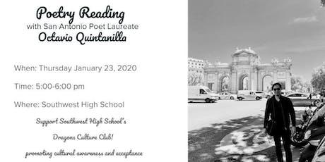 Poetry Reading with Octavio Quintanilla tickets
