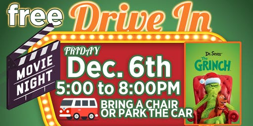 Free Christmas Drive In Movie featuring The Grinch