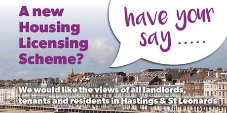 Hastings New Selective Licensing Scheme Consultation tickets