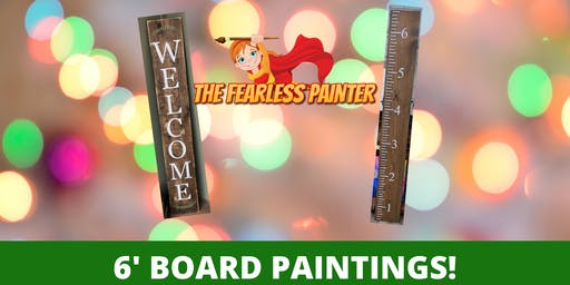 6FT Welcome or Growth Chart Wooden Boards