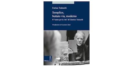 Presentazione del libro di Enrica Tedeschi biglietti
