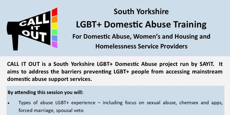Call It Out: South Yorkshire  LGBT+ Domestic Abuse Training tickets