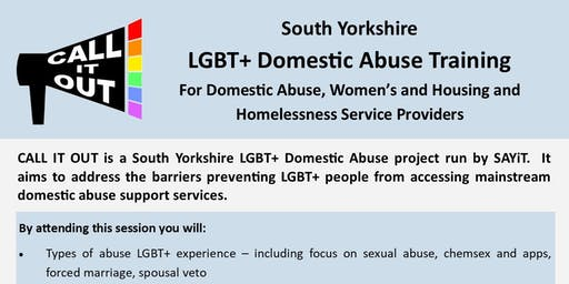 Call It Out: South Yorkshire  LGBT+ Domestic Abuse Training