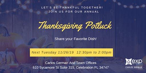 Thanksgiving Potluck 2019