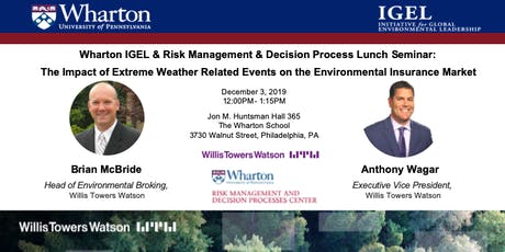 The Impact of Extreme Weather Related Events on the Environmental Insurance tickets