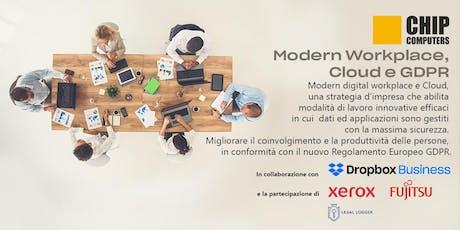 Modern workplace, cloud e GDPR biglietti