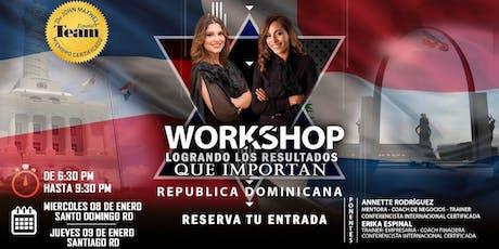 Workshop: Logrando los resultados que importan entradas