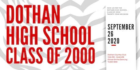 Dothan High School Class of 2000 Twenty-Year Renion tickets