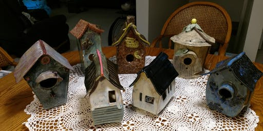 NEW! Hand-building Clay Birdhouse Workshop Session 2
