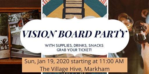 Vision Board Party with Drinks and Snacks