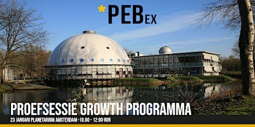 Proefsessie PEBex Growth programma 23 januari 2020