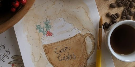 Watercolour Painting With Coffee -  Creative Connection!