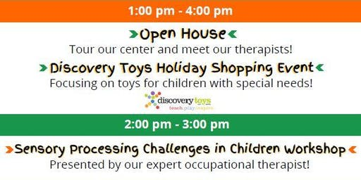 Open house, Discovery Toys, Sensory Processing Workshop